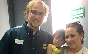 Logan Towne helped bring glasses to children in Mexico.