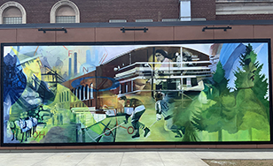 Paul LaJeunesse's new mural in Virginia, MN.