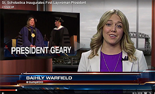 WDIO reporter Baihly Warfield covered the inauguration.