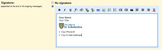 Go to the signature editor and Paste the signature you copied.