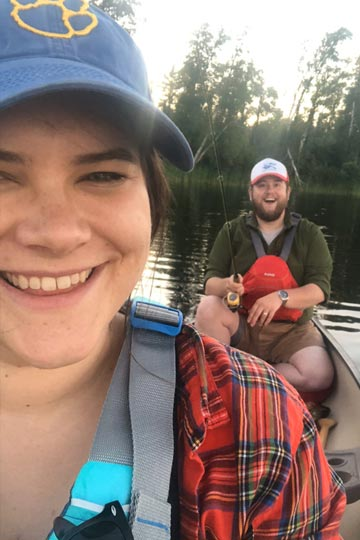 Michelle Ruszat Klee in a canoe