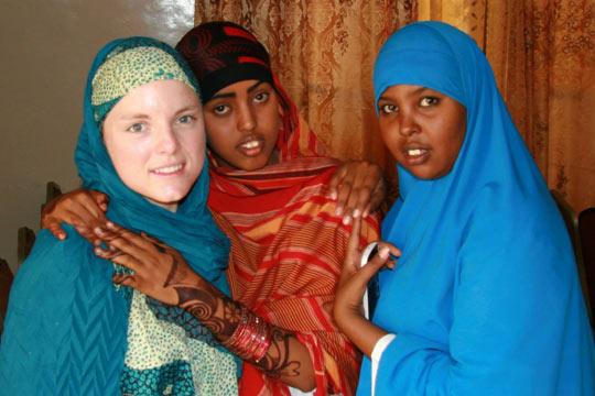 Bria Schurke working in the medical community in Somalia