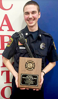 Timothy Jessen named Fire Fighter of the Year