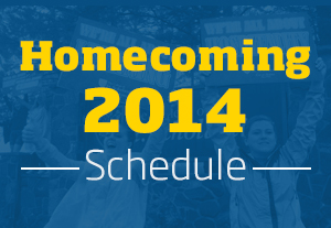 Homecoming 2014 Schedule