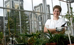 Jane Wattrus manages St. Scholastica's greenhouse
