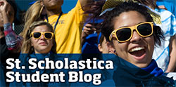 St. Scholastica Student Blog header
