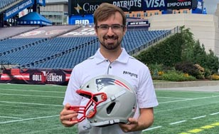 Eric Pillsbury at the New England Patriots' Gillette Stadium.