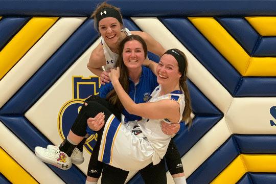Huber sisters Alison, Nicole and  Kaela