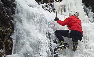 Outdoor Pursuit ice climbing adventure