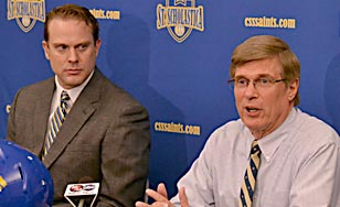Kurt Ramler, left, with Athletic Director Don Olson