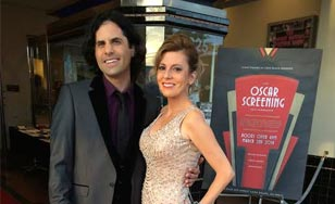 Debbie DeLisi and her husband at the Oscar Screening.