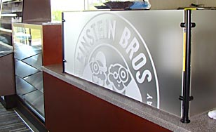 The new Einstein Bros. bagel shop is almost done