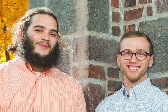 Student Senate leaders Will Richardson and Andrew Bailey