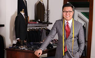 Zorig Tumennasan, owner of Premier Tailor