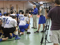 Fox Sports North films CSS football practice