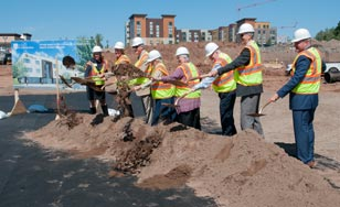 Breaking ground for the Health Science Center.