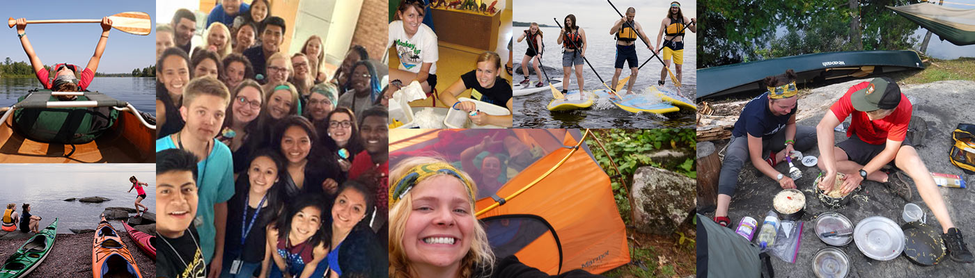 Students on a variety of orientation trips around the Duluth region.