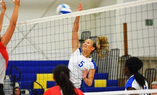 Olivia Krejcarek on the volleyball court