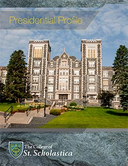 Cover image of The College of St. Scholastica Presidential Profile document