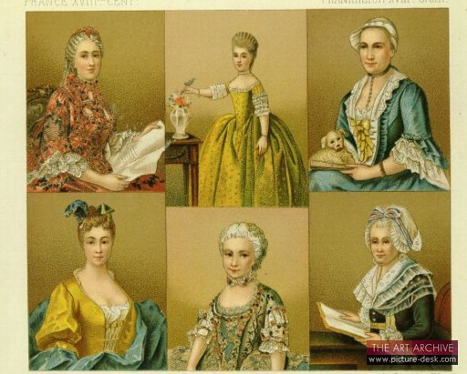 18th century womens fashion 19