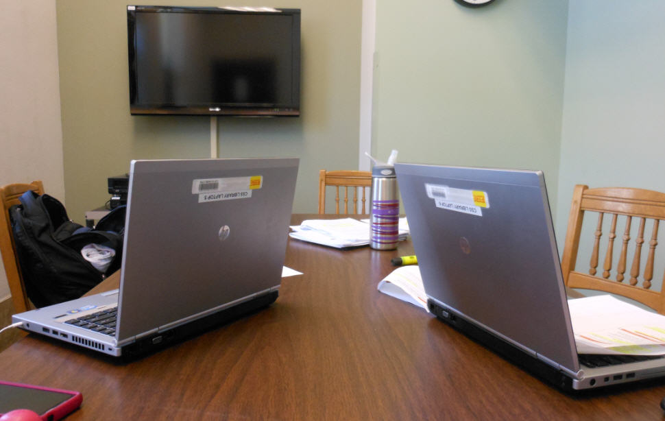 Laptops in Library