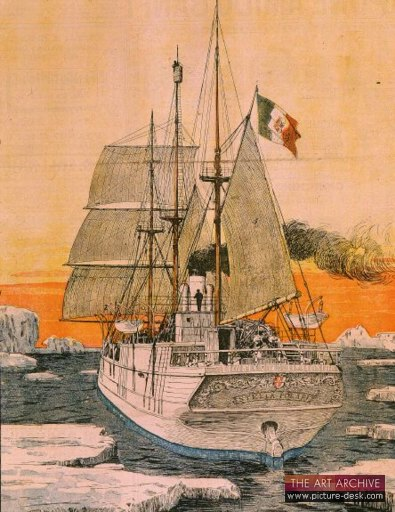 """""""Voyage of the Duke of Abruzzi to North Pole in the ship Stella Polaris,"""" print, circ. 20th century."""