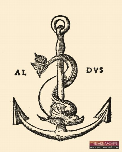 Anchor & Dolphin, the printer's mark of the Aldine Press