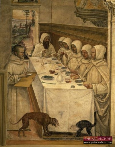 Monks at Table