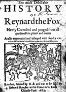 Title page of Reynard the Fox