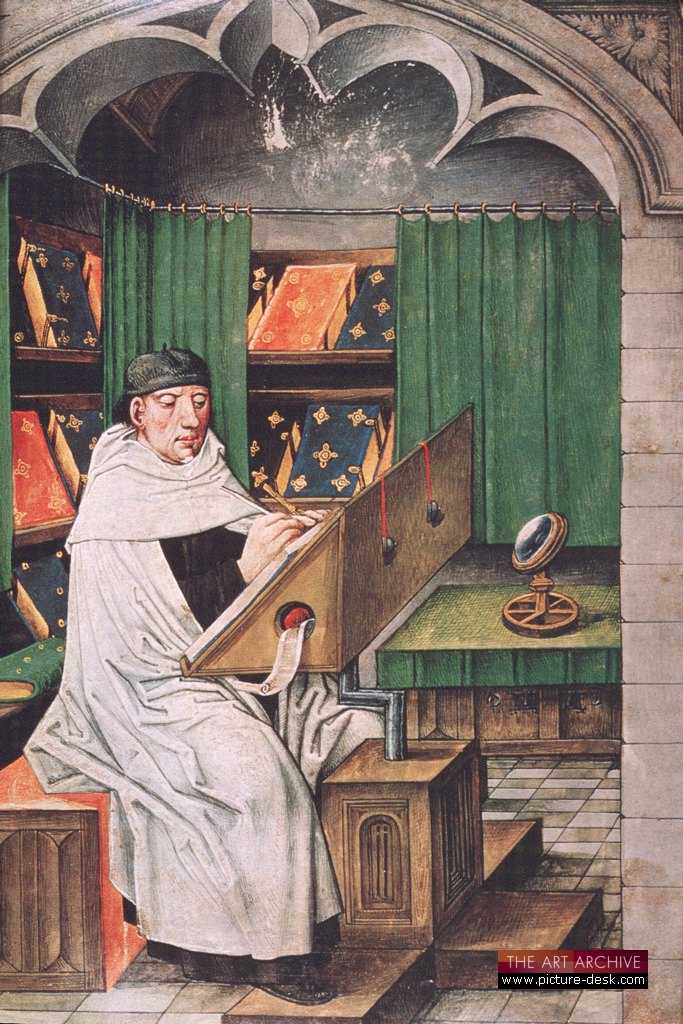 The scribe at work