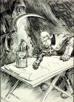 """""""Going Fast,"""" pen & ink drawing by W.A. Rogers, 1918."""