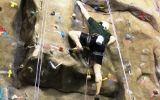 Climber on the Indoor wall