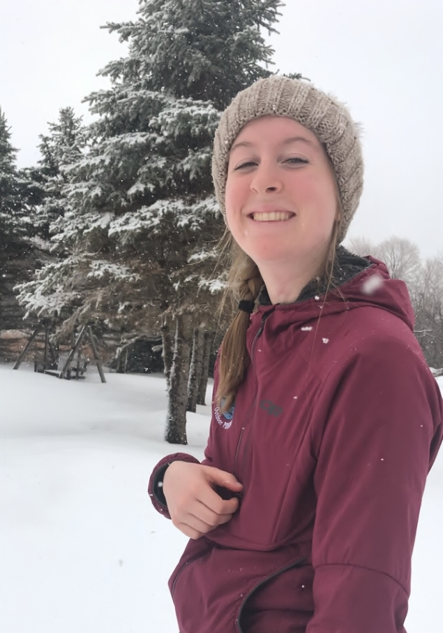 Faye Standing in Snow