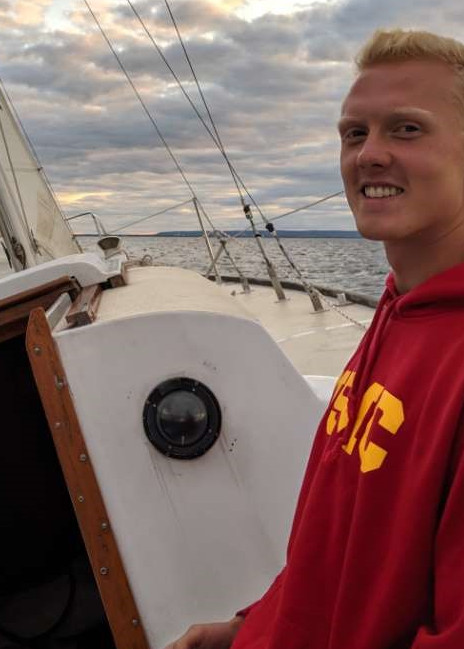 Mike on sailboat
