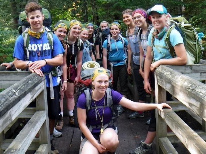 Group picture on bridge