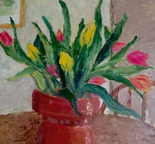 (c) 2016 Carol Japha, Tulips, Day One