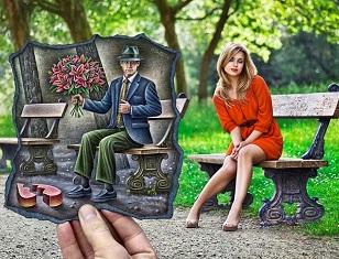 © 2017 Ben Heine, A Date in the Park