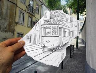 © 2017 Ben Heine, A European Streetcar