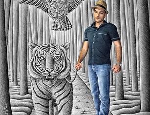 © 2017 Ben Heine, Taming a Tiger