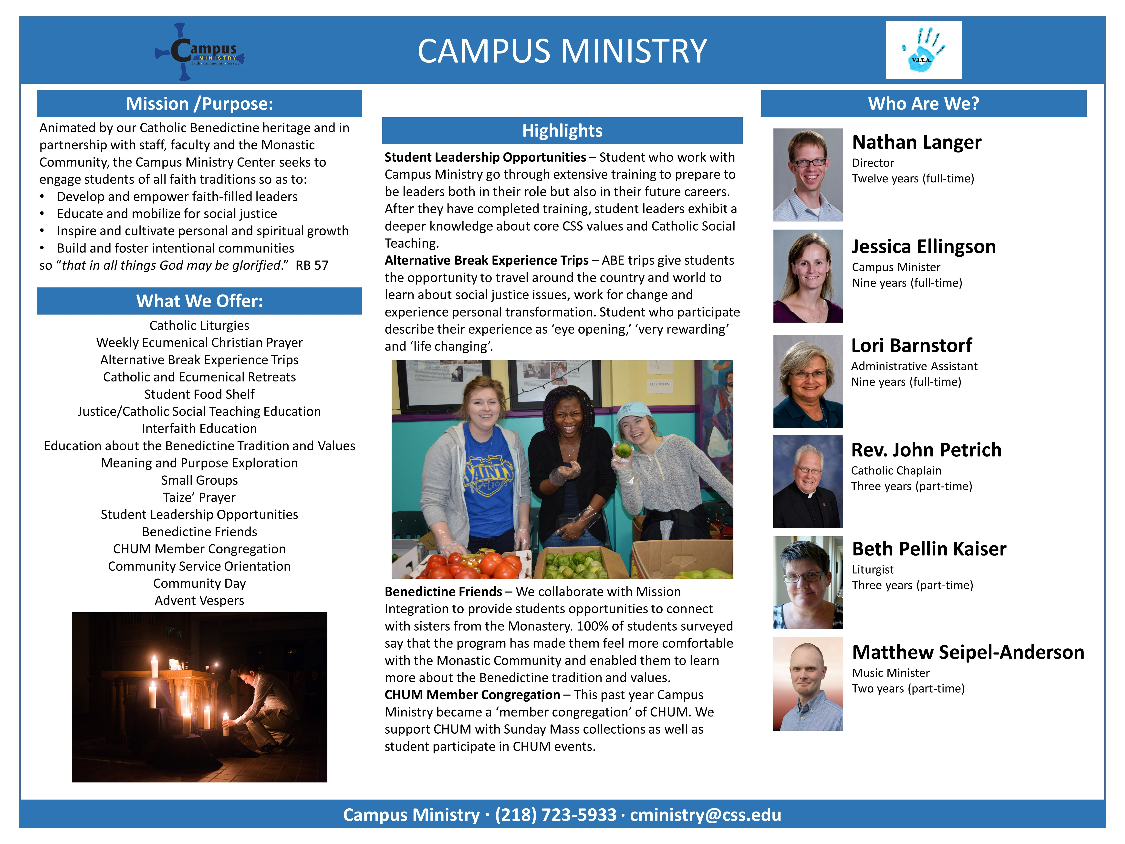 Campus Ministry poster