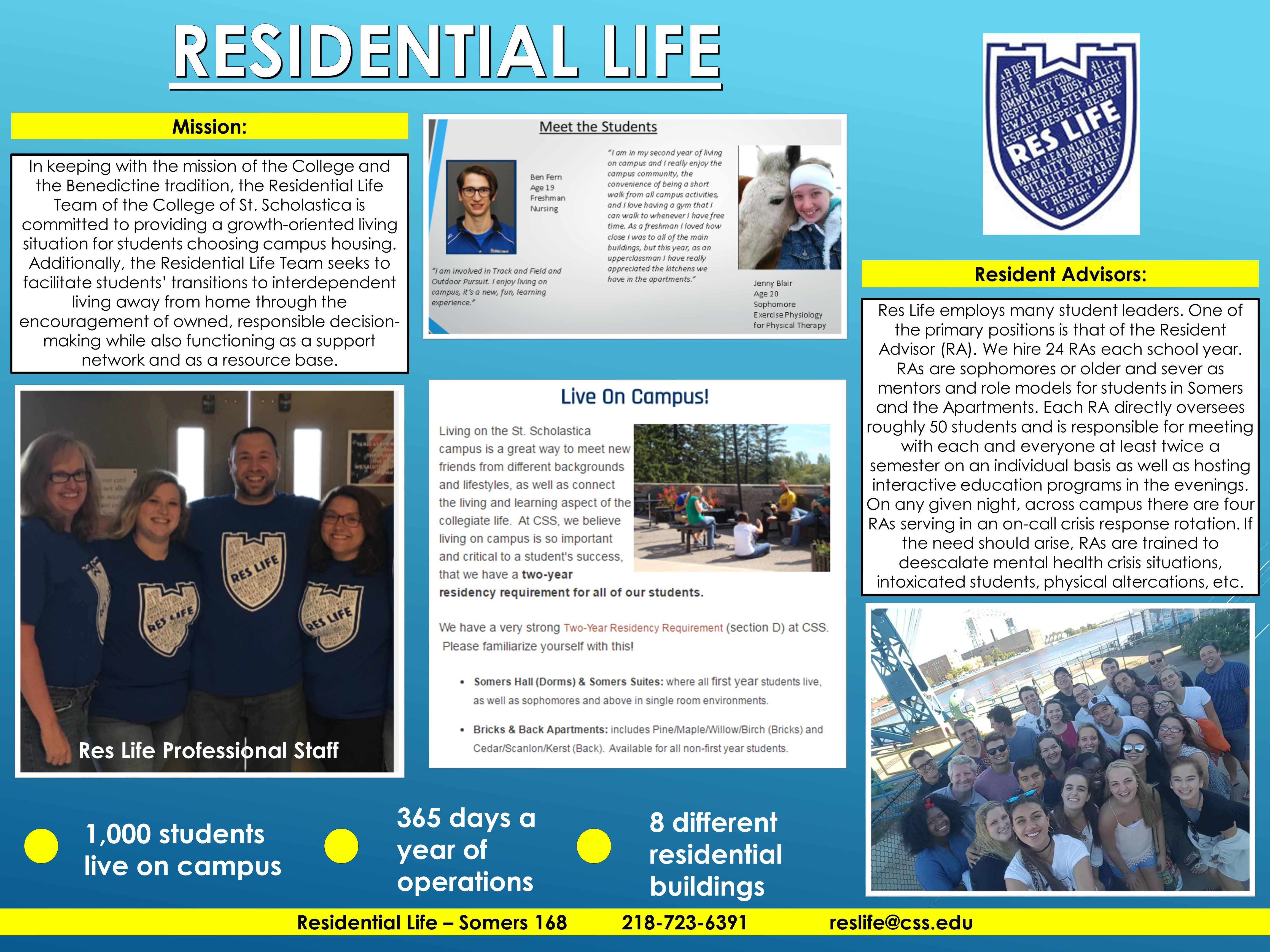 Residential Life Poster