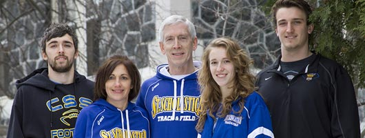 Kaplan family visiting St. Scholastica's Duluth Campus