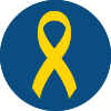 Icon of a Yellow Ribbon
