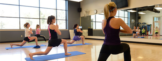 students in a Yoga class