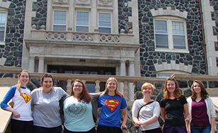 Clare Boothe Luce students Heather Carlson, Emily Ciernia, Hope Haugstad, Abby Panfil, Krissa Boman, Jenna Thomforde and Elizabeth Gearhart.