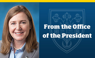 President Geary announces the appointment of Ellen V. Johnson as Vice President for Enrollment Management