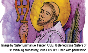 St. Benedict was the twin brother of St. Scholastica