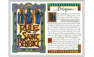 The Rule of St. Benedict guides Benedictines throughout the world.