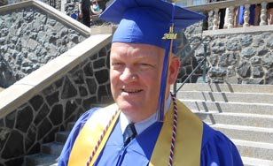 Don Claveau on graduation day at CSS